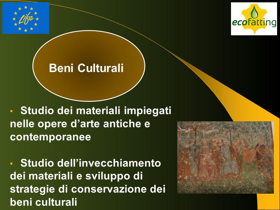 Beni Culturali Studio dei materiali impiegati nelle opere d'arte antiche e contemporanee Studio dell'invecchiamento dei materiali e sviluppo di strate