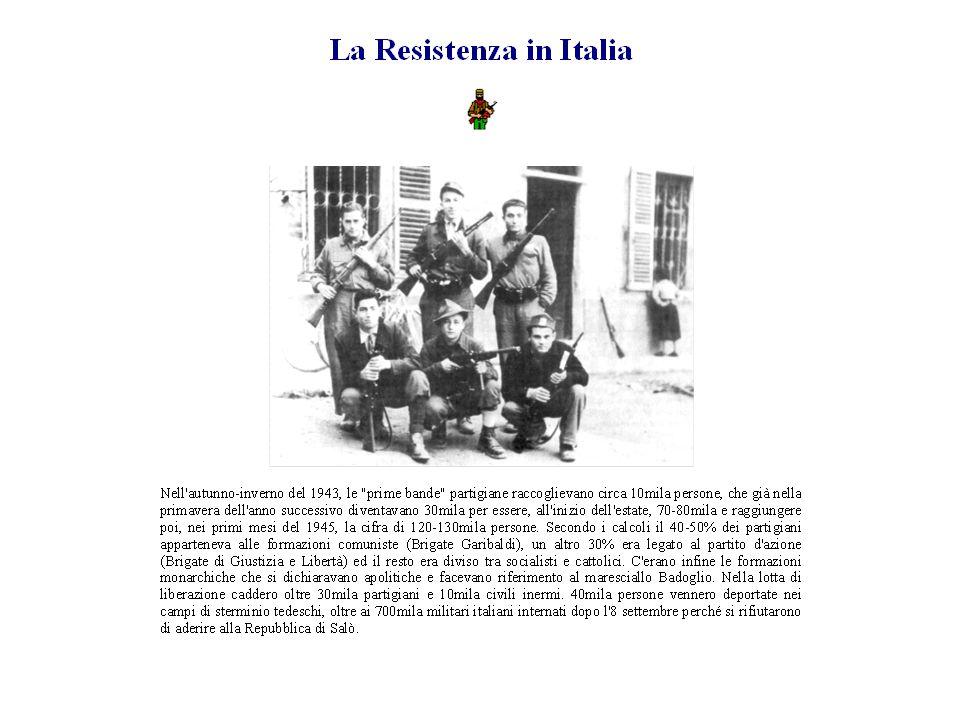 La Liberazione Il 25 aprile 1945 i partigiani liberano Milano dall'occupazione dei nazisti e dai fascisti.