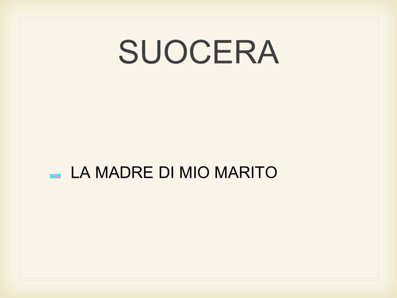 SUOCERA LA MADRE DI MIO MARITO