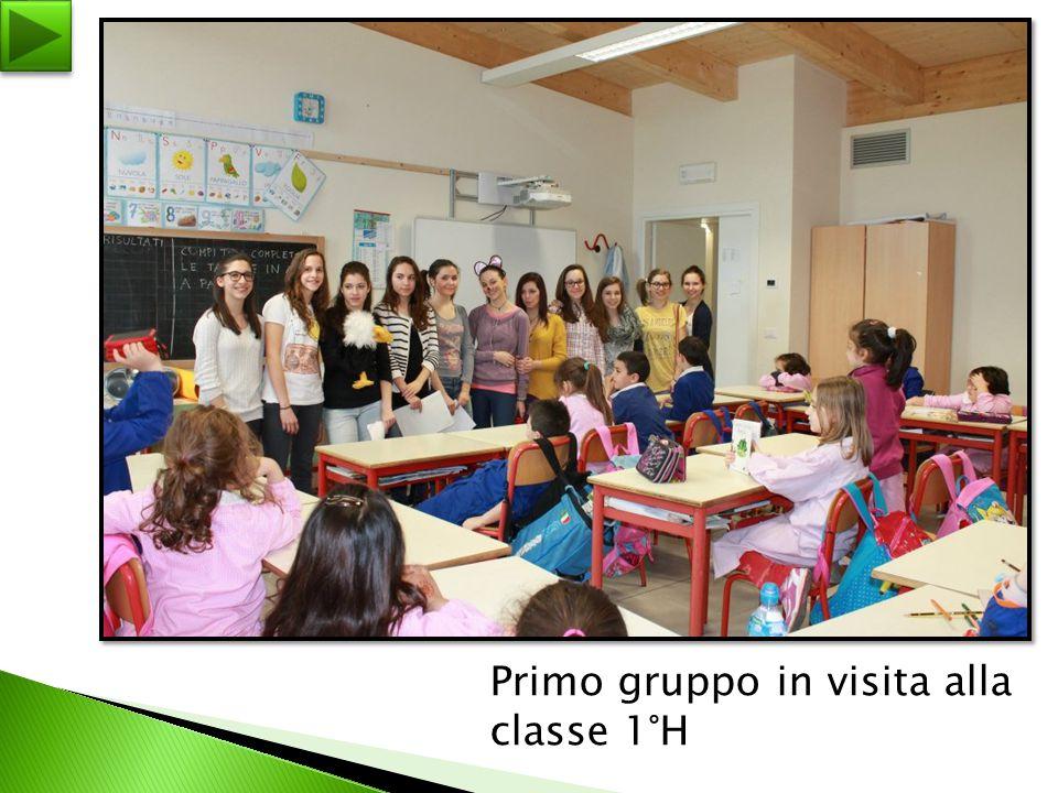 Primo gruppo in visita alla classe 1°H