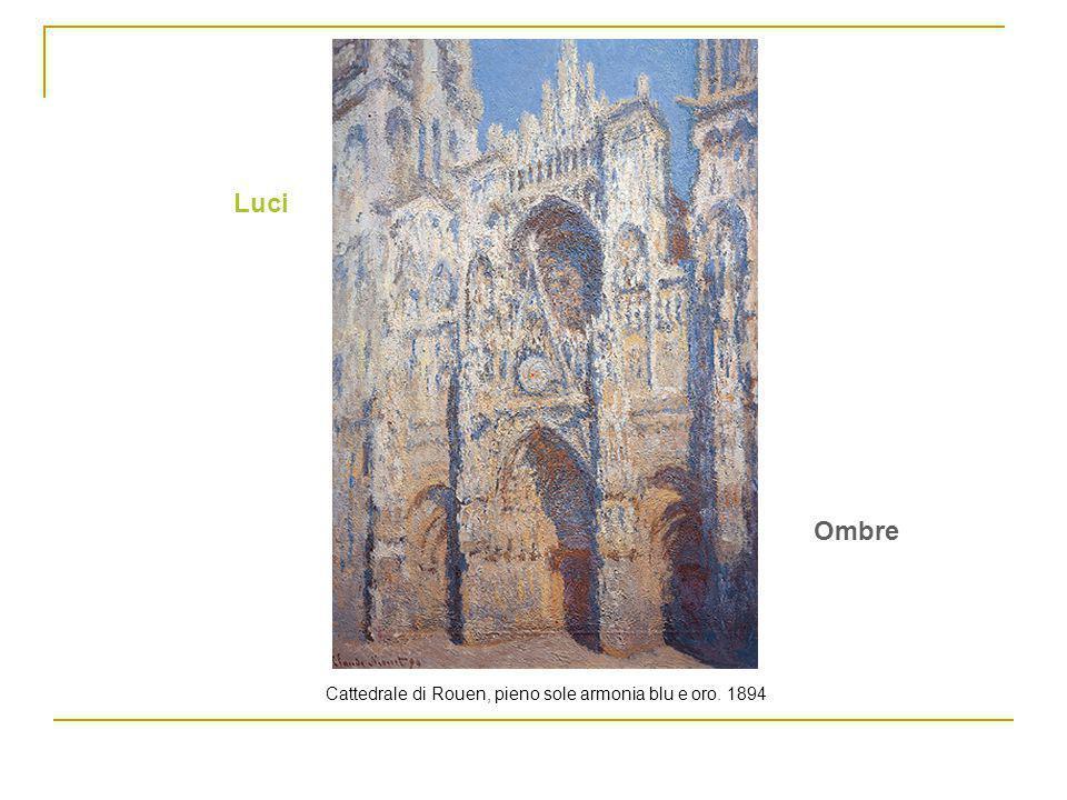 Cattedrale di Rouen, pieno sole armonia blu e oro. 1894 Luci Ombre