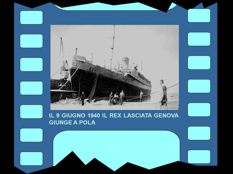 IL 30 APRILE 1940 IL REX SALPA DA GENOVA PER LA SUA ULTIMA TRAVERSATA OCEANICA