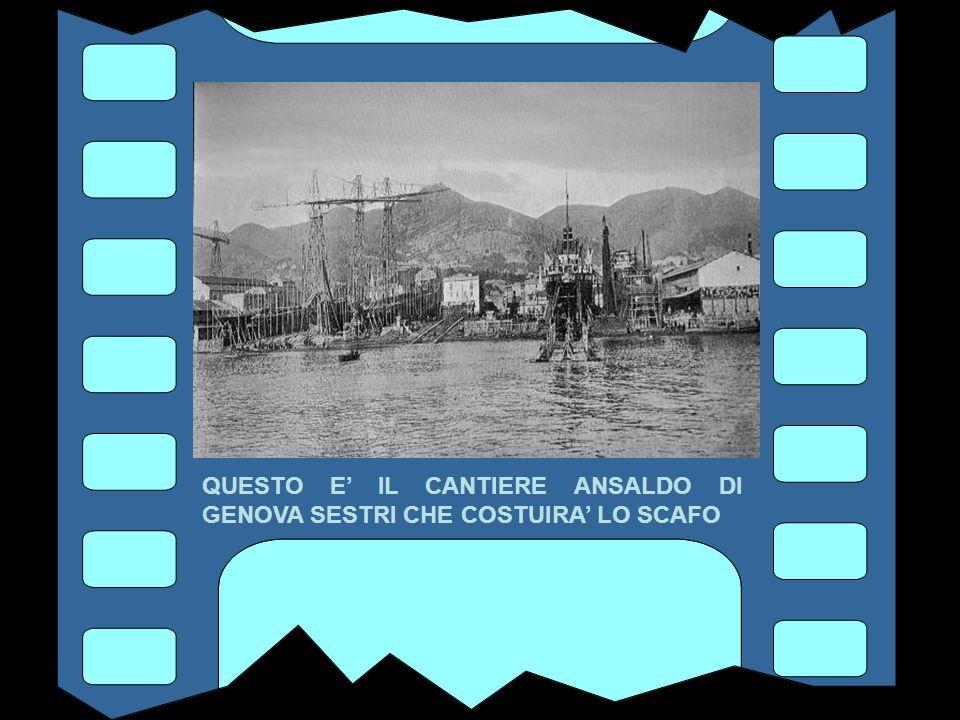 2 DICEMBRE 1929 LA NAVIGAZIONE GENERALE ITALIANA FIRMA IL CONTRATTO DI COSTRUZIONE DEL REX CON I CANTIERI ANSALDO DI GENOVA SESTRI, PER LO SCAFO E LE MACCHINE, E CON LE OFFICINE O.A.R.N.