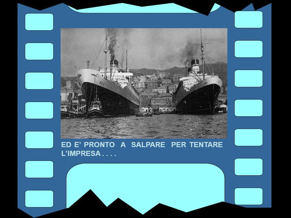 SIAMO NEL'AGOSTO DEL 1933 IL REX E' ORMEGGIATO AL PONTE ANDREA DORIA NEL PORTO DI GENOVA