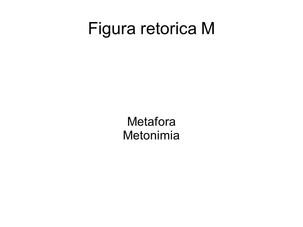 Metafora È la sostituzione di un termine proprio con uno figurato.