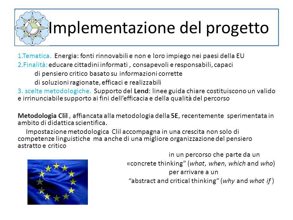 Implementazione del progetto 1.Tematica.