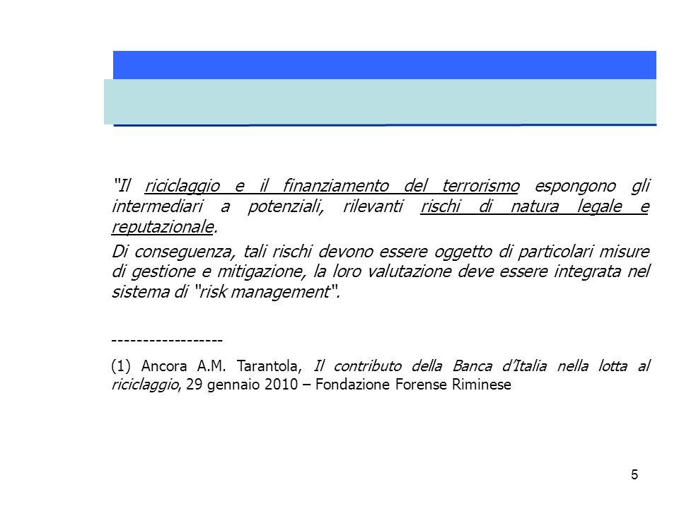 26 Il 3 aprile 2013 la Banca d'Italia, d'intesa con la Consob e l'IVASS, ha emanato le Istruzioni per l' adeguata verifica della clientela.