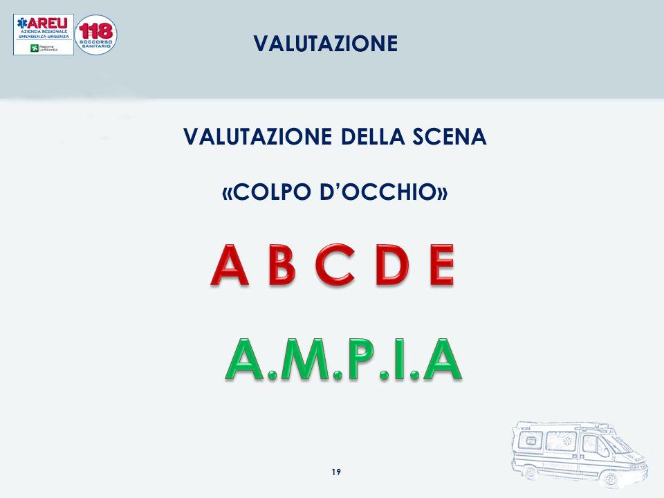 19 VALUTAZIONE DELLA SCENA «COLPO D'OCCHIO»