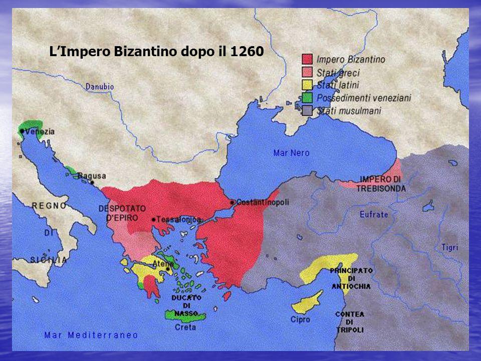L'Impero d'Oriente era in fase di dissoluzione: - i Veneziani occupavano l'Egeo, - l'Albania era indipendente, - i Serbi occuparono metà dei territori imperiali, - infine gli Ottomani entrarono nel continente europeo a partire dal 1354 intenzionati a rinverdire l'idea della Guerra Santa (Jihad) contro gli infedeli cristiani.
