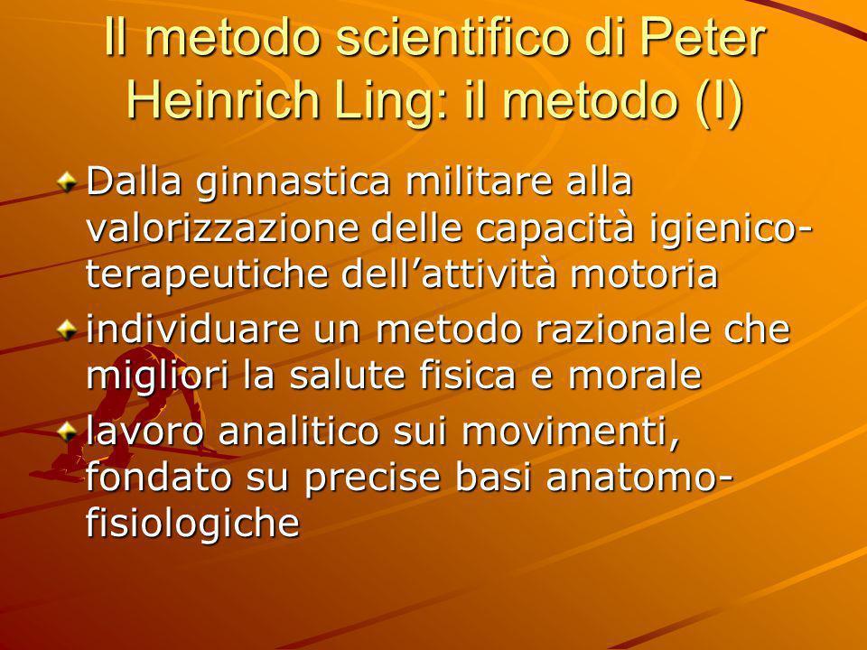 Il metodo scientifico di Peter Heinrich Ling: il metodo (I) Dalla ginnastica militare alla valorizzazione delle capacità igienico- terapeutiche dell'a