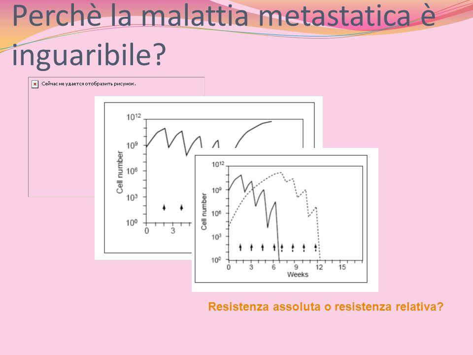 Perchè la malattia metastatica è inguaribile? Resistenza assoluta o resistenza relativa?