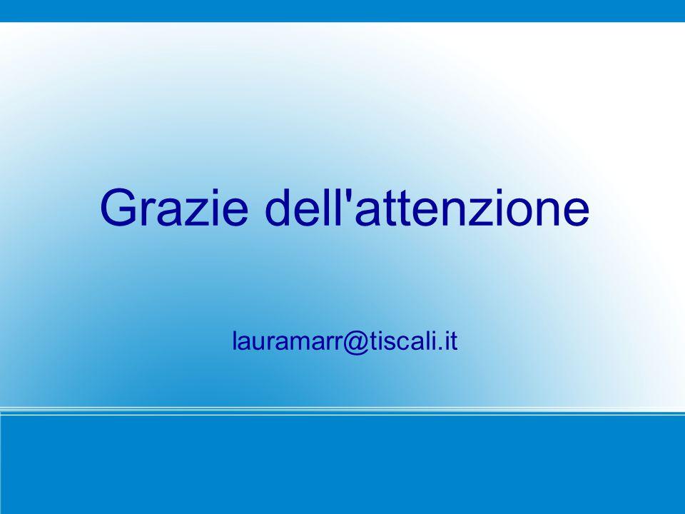 Grazie dell'attenzione lauramarr@tiscali.it