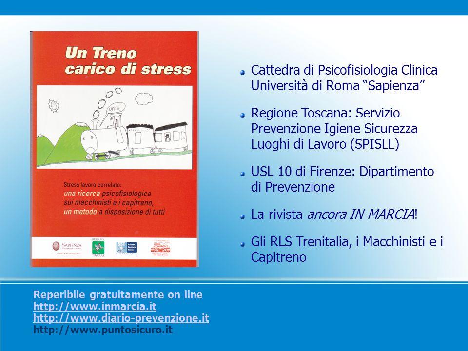 Reperibile gratuitamente on line http://www.inmarcia.it http://www.diario-prevenzione.it http://www.puntosicuro.it http://www.inmarcia.it http://www.d
