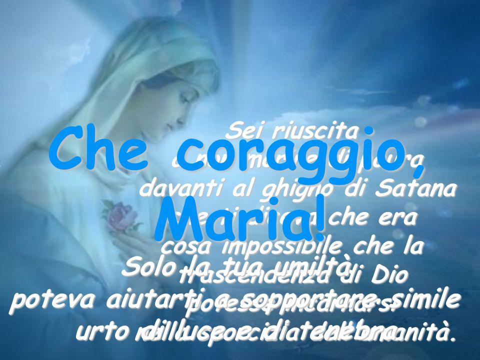Signore, come Maria, aiutaci a vivere di fede: che la nostra fede sia forte soprattutto nei momenti del dolore e della prova.
