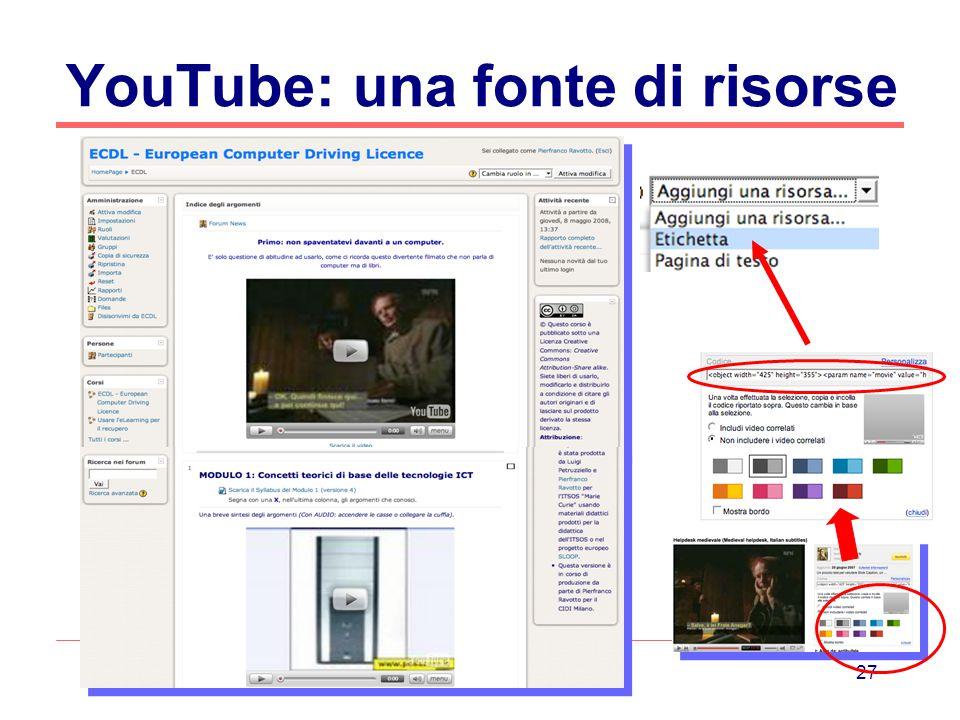 27 YouTube: una fonte di risorse