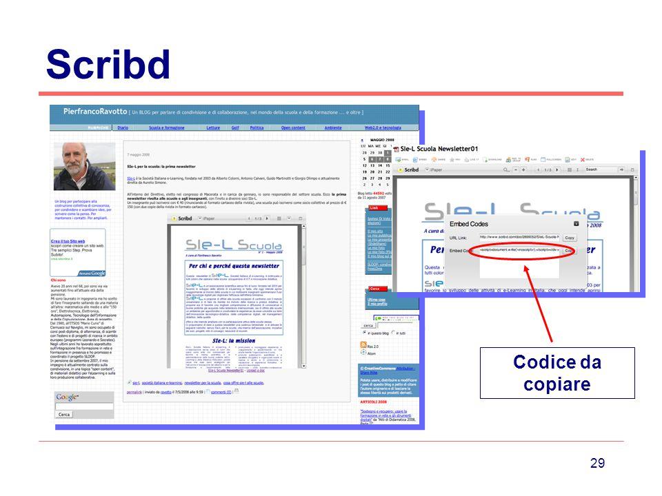 29 Scribd Codice da copiare