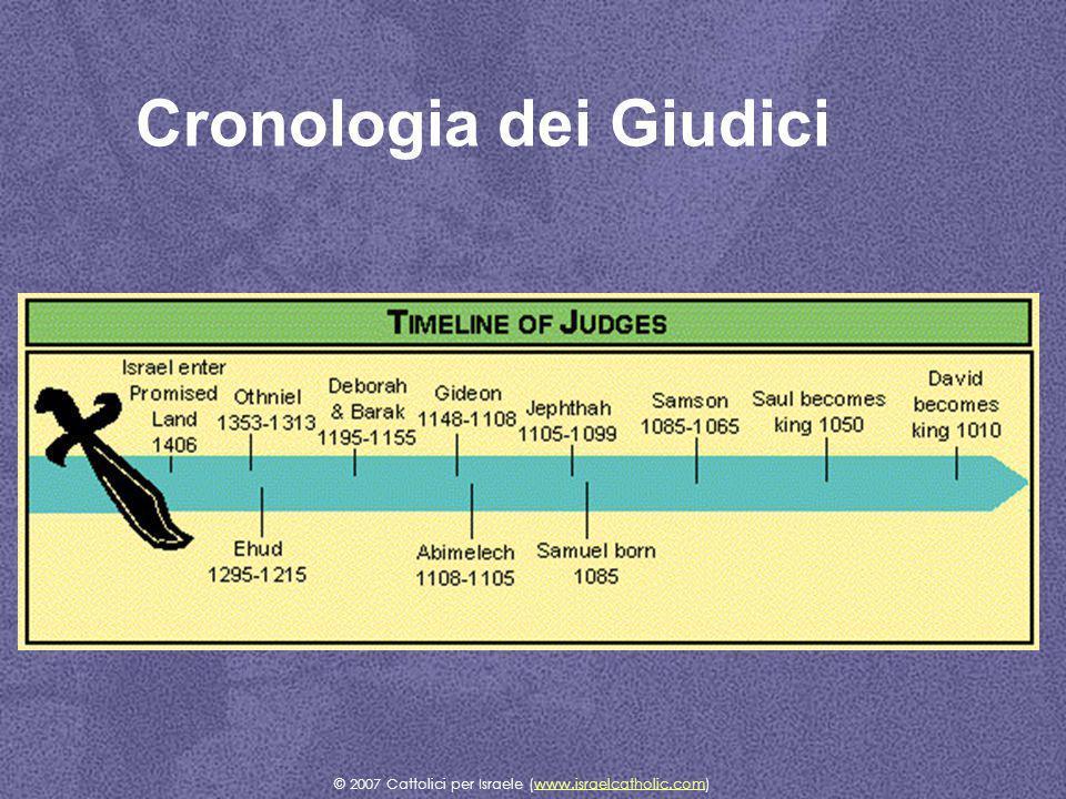 Cronologia dei Giudici © 2007 Cattolici per Israele (www.israelcatholic.com)www.israelcatholic.com