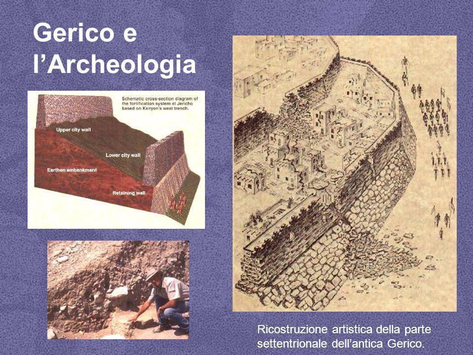 Gerico e l'Archeologia Ricostruzione artistica della parte settentrionale dell'antica Gerico.