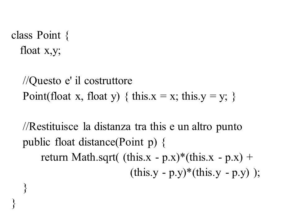 Esercizio Illustrare l effetto dei seguenti programmi sullo stack e sullo heap.