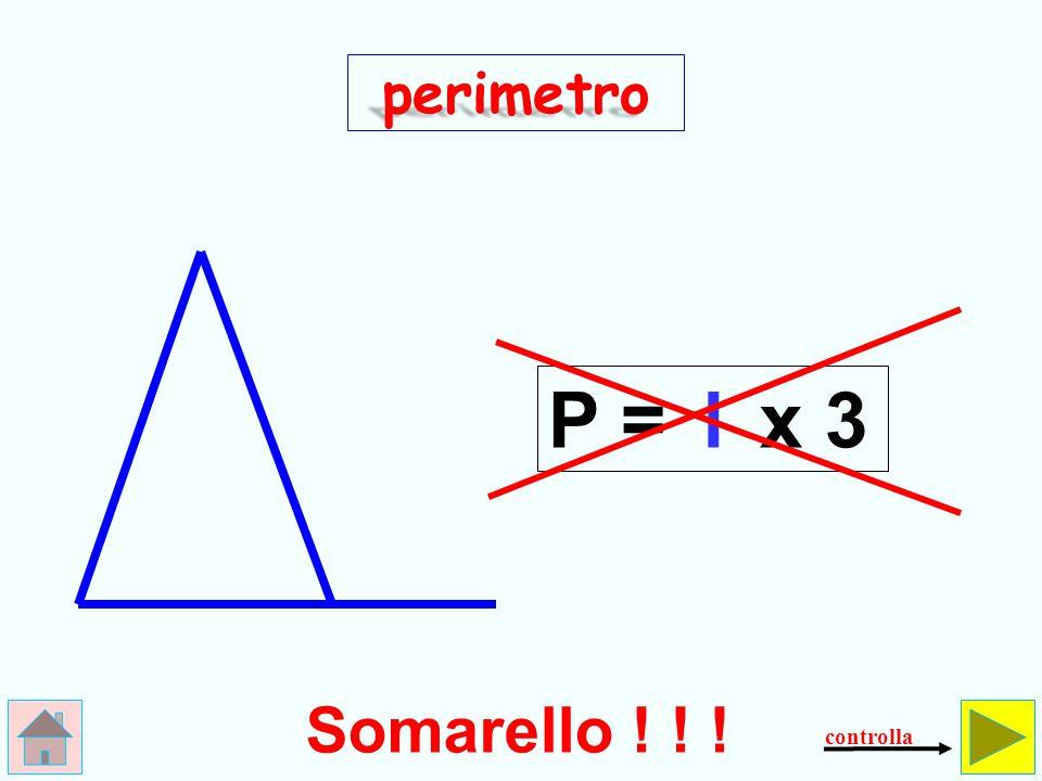Come si calcola il perimetro del triangolo isoscele.