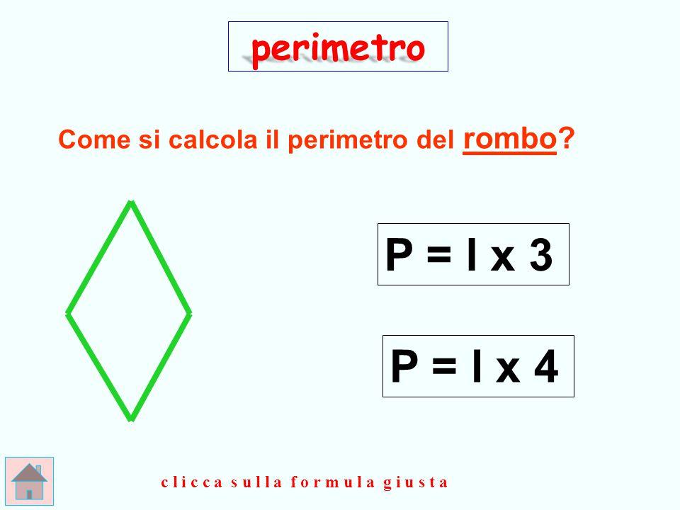 G I U S T O ! ! ! + l perimetro P = ( l x 2 ) clicca qui