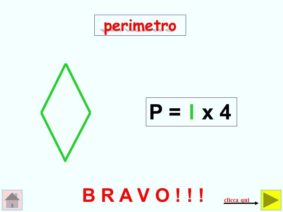 l x 3 SBAGLIATO !!! perimetro P = controlla