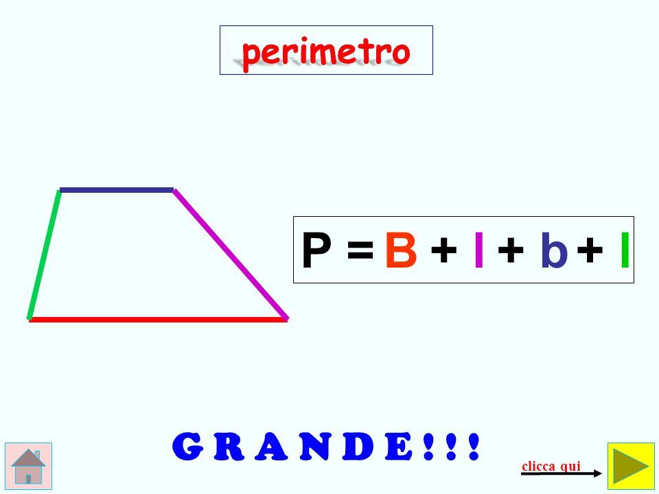 E R R O R E ! ! ! perimetro P = B + b+l x 2 ()() controlla