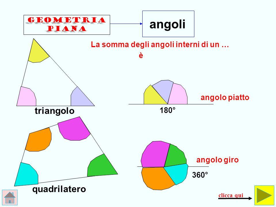 triangolo rombo deltoide rettangolo quadrato trapezio esagono romboide poligoni clicca qui