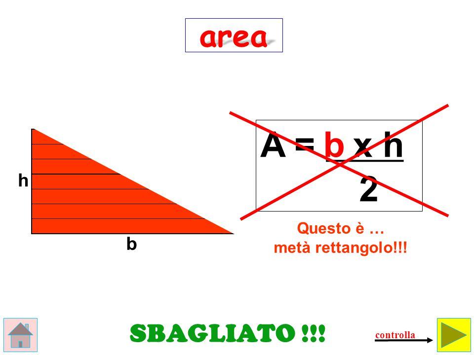 area Come si calcola l'area del rettangolo.