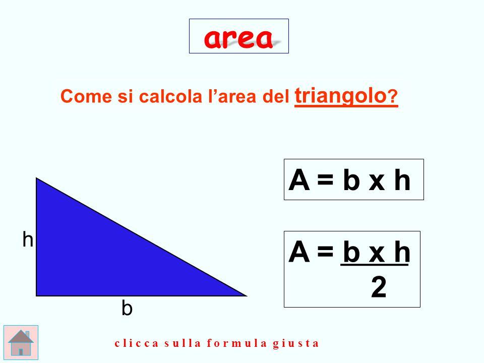 BRAVISSIMO !!! l (b) l (h) area A = l (b) x l (h) clicca qui