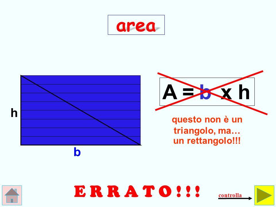 Come si calcola l'area del triangolo .