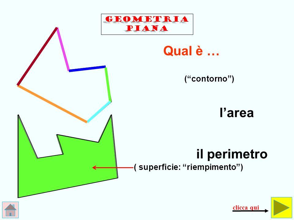 180° La somma degli angoli interni di un … triangolo quadrilatero è 360° angolo piatto angolo giro angoli GEOMETRIA PIANA clicca qui