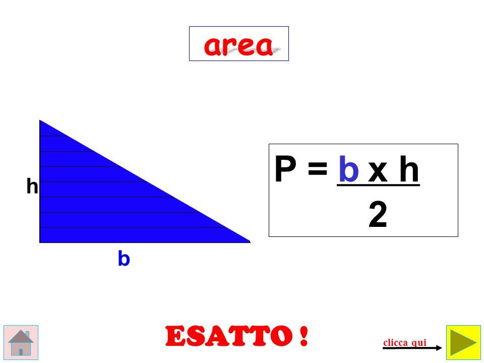 questo non è un triangolo, ma… un rettangolo!!! E R R A T O ! ! ! h b area A = b x h controlla