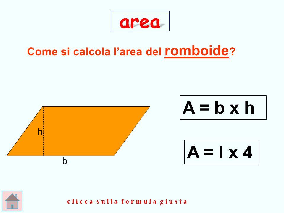 ESATTO ! h b area P = bx h 2 clicca qui