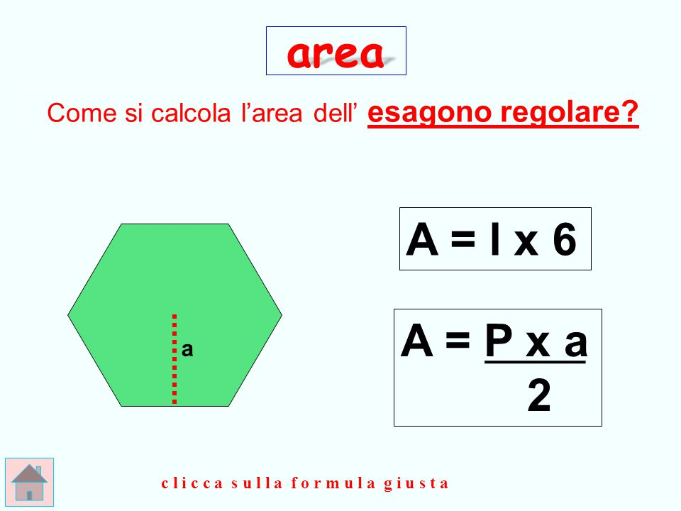 O t t i m o ! ! ! d D area A = d x D 2 clicca qui