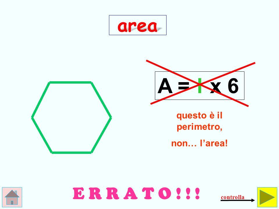 Come si calcola l'area dell' esagono regolare.