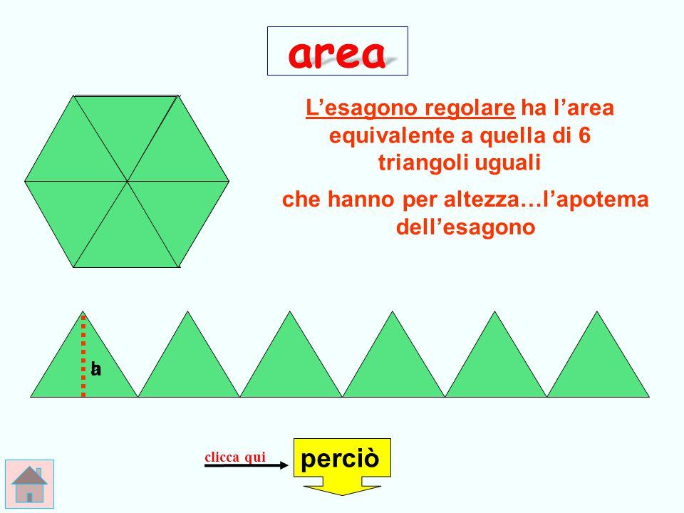 E R R A T O ! ! ! area questo è il perimetro, non… l'area! A = l x 6 controlla