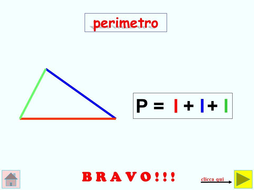 N O O O O O ! ! ! + l perimetro controlla ( l x 2) P =