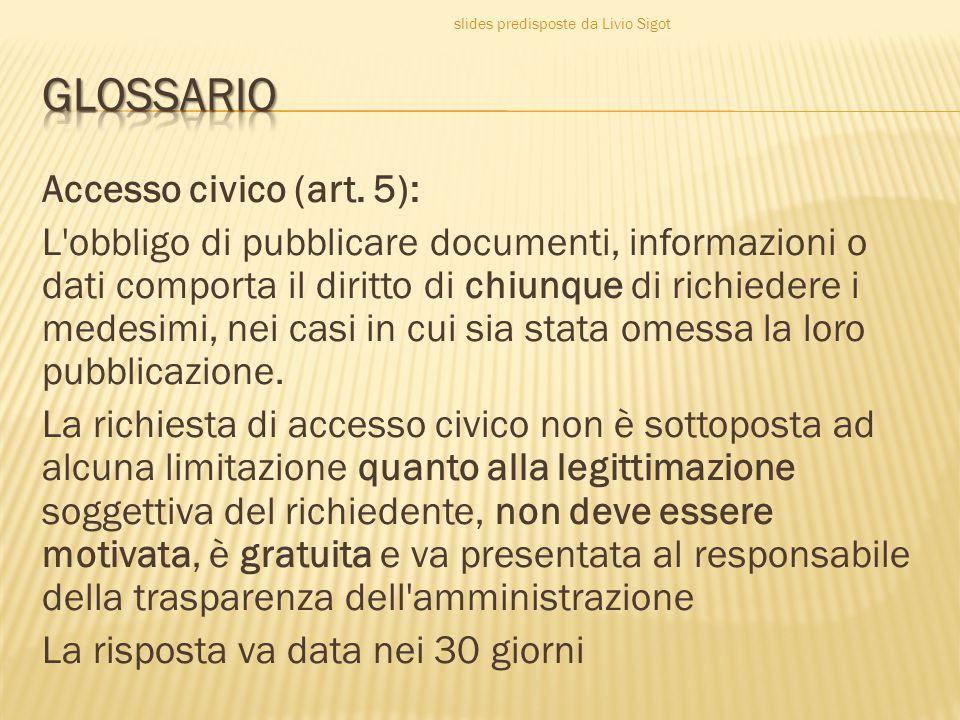 Accesso civico (art.