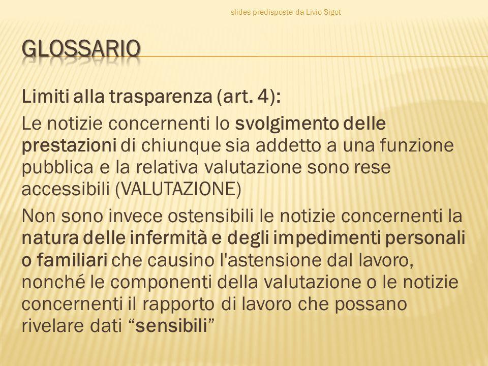 Limiti alla trasparenza (art.
