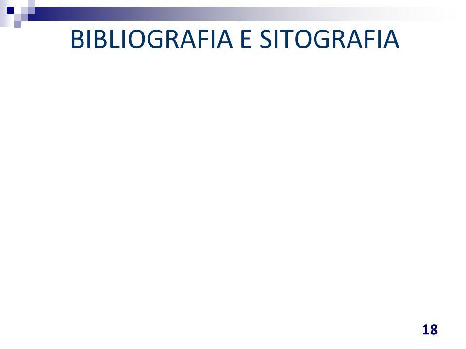 BIBLIOGRAFIA E SITOGRAFIA 18