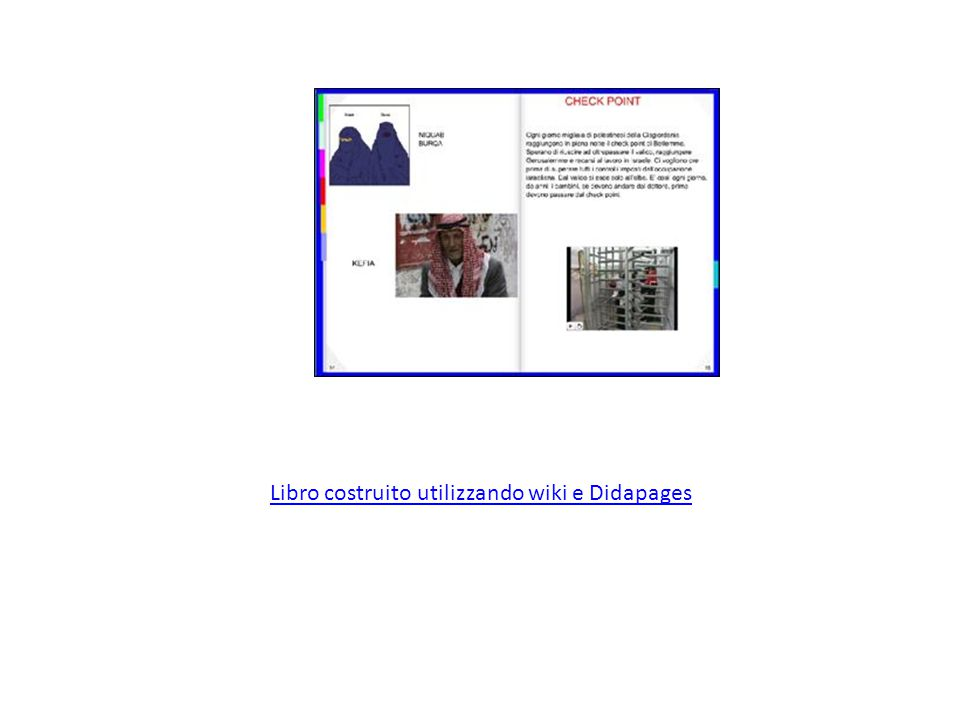 Libro costruito utilizzando wiki e Didapages