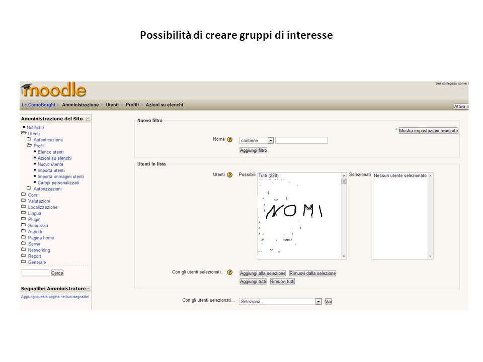 Possibilità di creare gruppi di interesse
