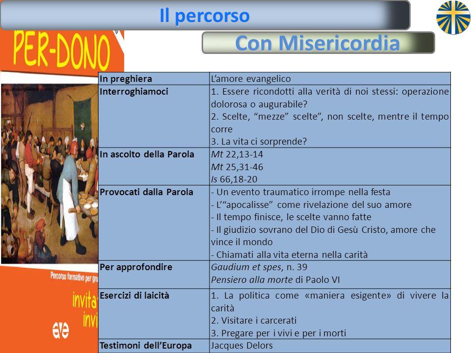 Con Misericordia Il percorso In preghieraL'amore evangelico Interroghiamoci1.