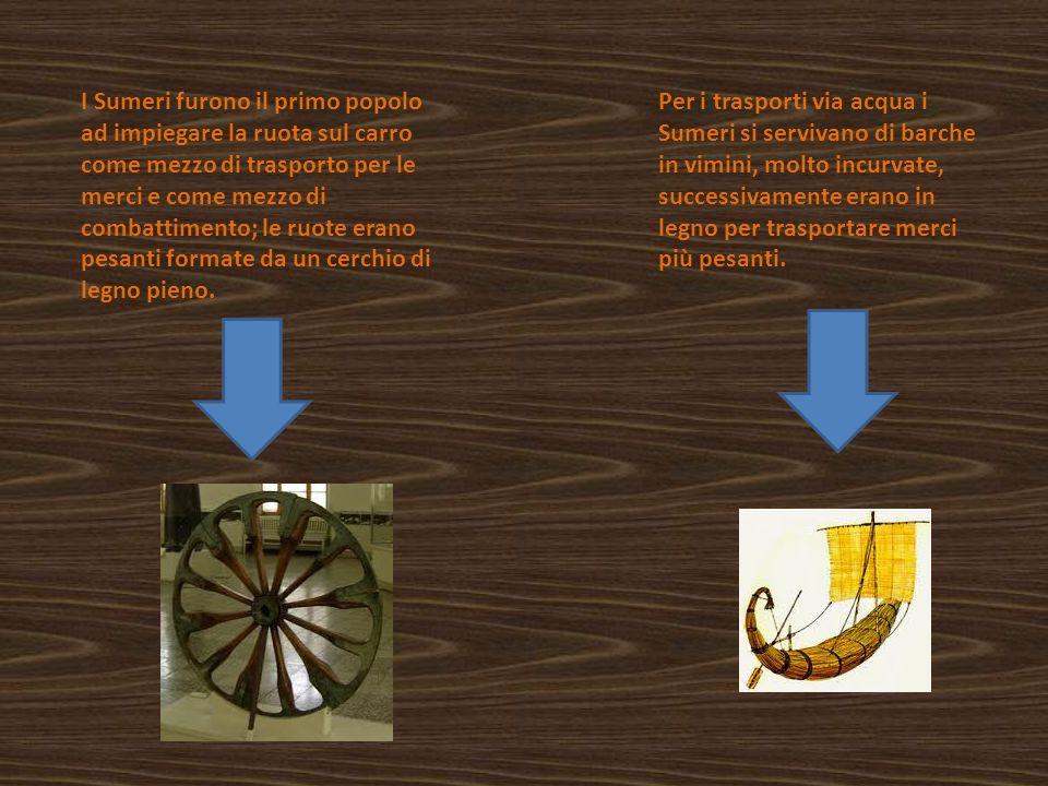 Ai falegnami Sumeri si deve l'invenzione dei primi chiodi. I chiodi erano posti nelle fondamenta, nei muri o nelle porte dei templi ed avevano anche u