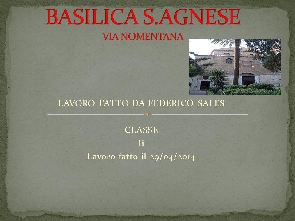 LAVORO FATTO DA FEDERICO SALES CLASSE Ii Lavoro fatto il 29/04/2014