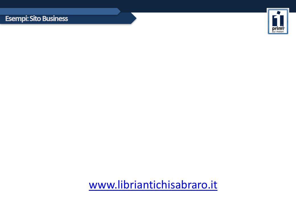 Esempi: Sito Business www.libriantichisabraro.it