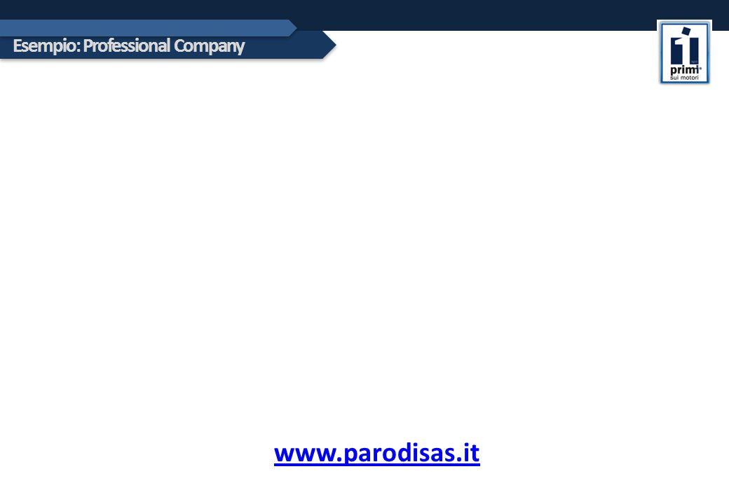 Esempio: Professional Company www.parodisas.it