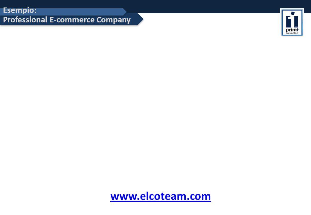 Esempio: Professional E-commerce Company www.elcoteam.com