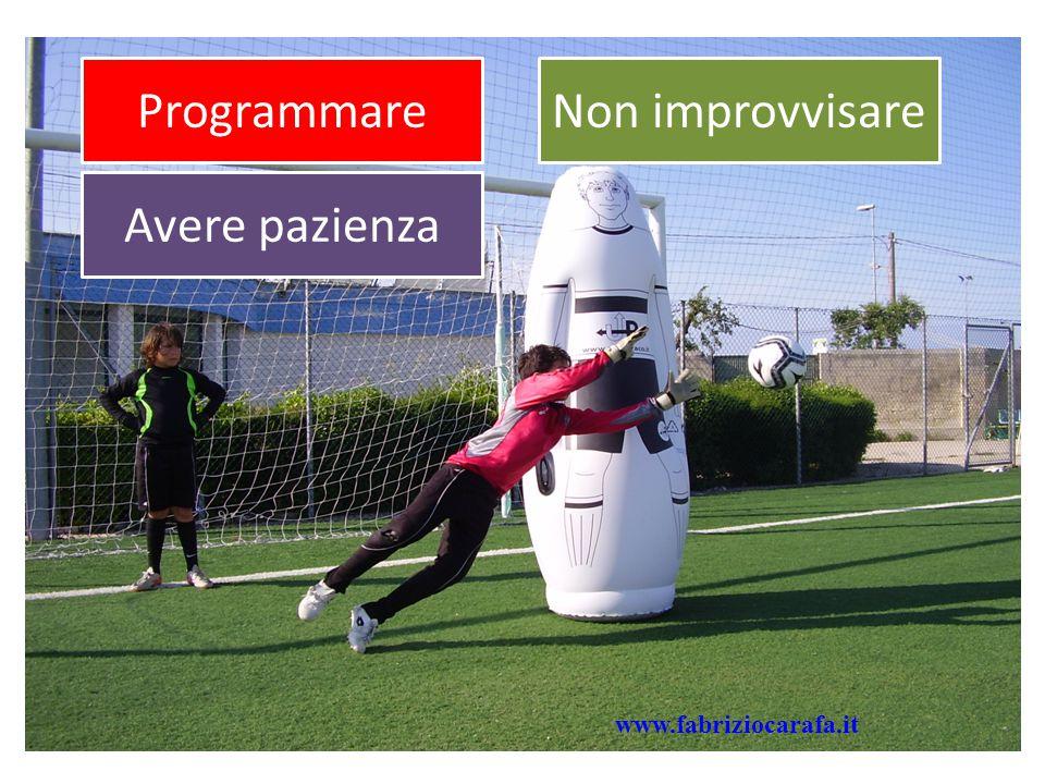 ProgrammareNon improvvisare Avere pazienza www.fabriziocarafa.it